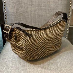 Vintage Kate Spade Nottingham Tweed Handbag